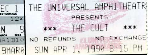 The Cult April 1, 1990