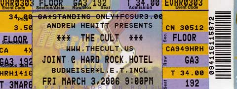 The Cult March 3, 2006