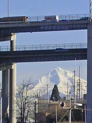 Interstate 5 and Mt. Hood