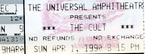 The Cult April 1, 1990