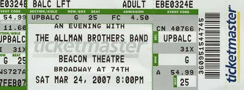 Allman Brothers at the Beacon